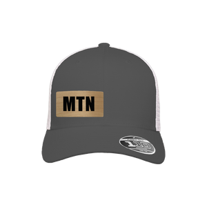 MTN Charcoal and White Flexfit Snapback Trucker