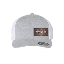 Load image into Gallery viewer, Adventure Awaits Silver Melange Flexfit Snapback Trucker