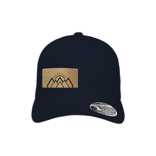 Load image into Gallery viewer, Mountain Sunrise Navy Flexfit Snapback Trucker