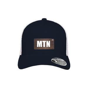 MTN Navy and White Flexfit Snapback Trucker