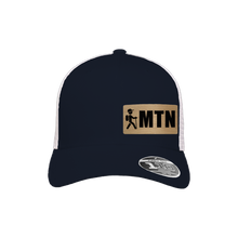Load image into Gallery viewer, MTN Hiker Navy and White Flexfit Snapback Trucker