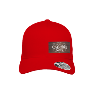 Adventure Awaits Red Flexfit Snapback Trucker