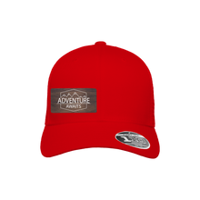 Load image into Gallery viewer, Adventure Awaits Red Flexfit Snapback Trucker