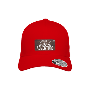 Authentic Adventure Red Flexfit Snapback Trucker
