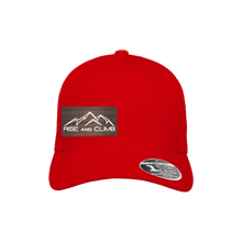 Load image into Gallery viewer, Rise and Climb Red Flexfit Snapback Trucker