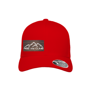 Rise and Climb Red Flexfit Snapback Trucker