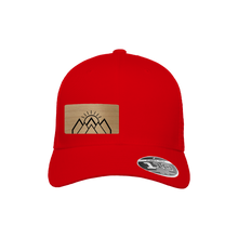 Load image into Gallery viewer, Mountain Sunrise Red Flexfit Snapback Trucker