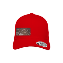 Load image into Gallery viewer, Trees and Mountains Red Flexfit Snapback Trucker