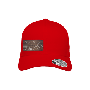 Trees and Mountains Red Flexfit Snapback Trucker