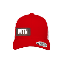 Load image into Gallery viewer, MTN Red and White Flexfit Snapback Trucker