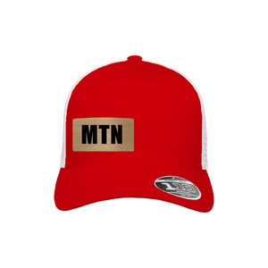MTN Red and White Flexfit Snapback Trucker