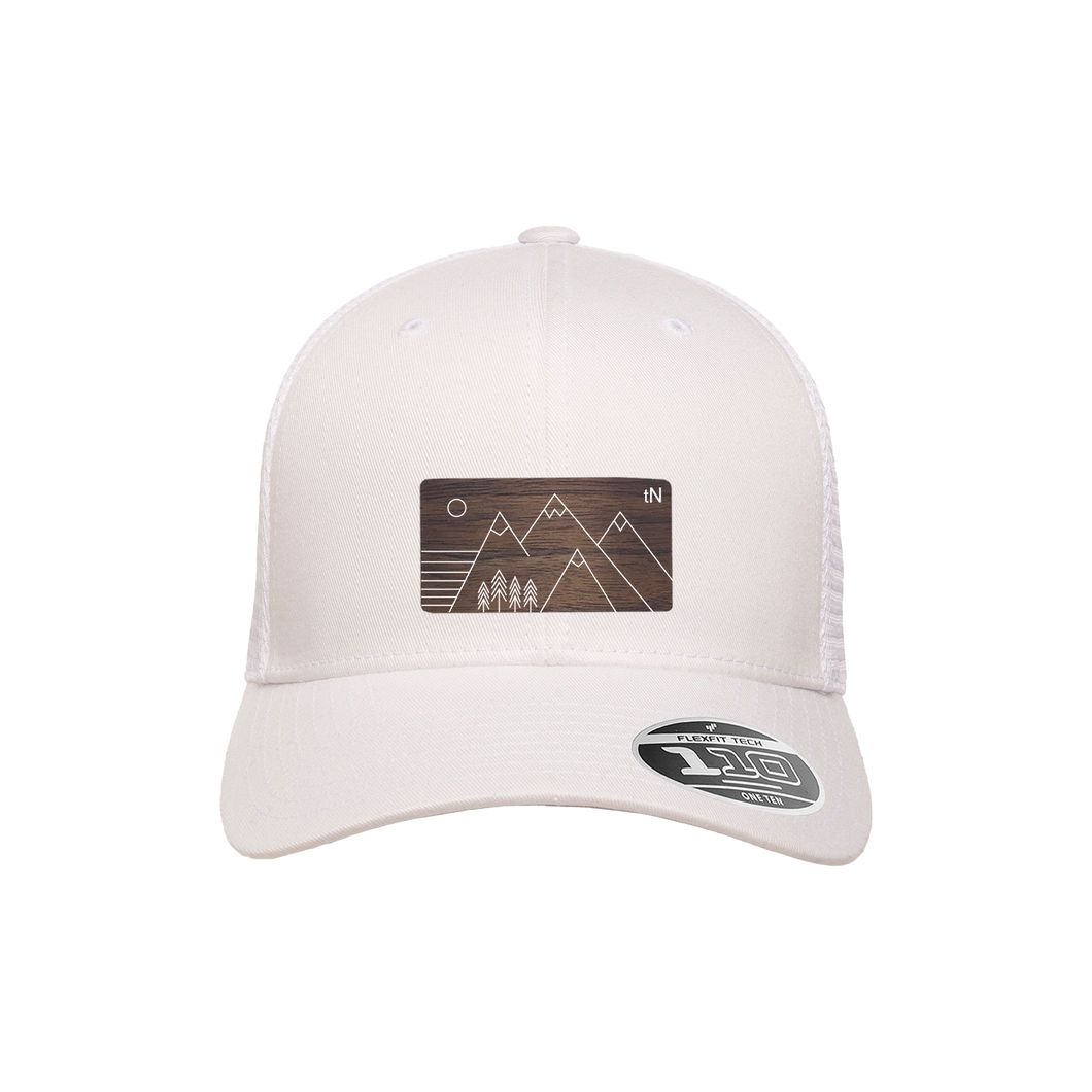 Trees and Mountains White Flexfit Snapback Trucker