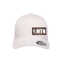 Load image into Gallery viewer, MTN Hiker White Flexfit Snapback Trucker