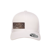 Load image into Gallery viewer, Trees and Mountains White Flexfit Snapback Trucker