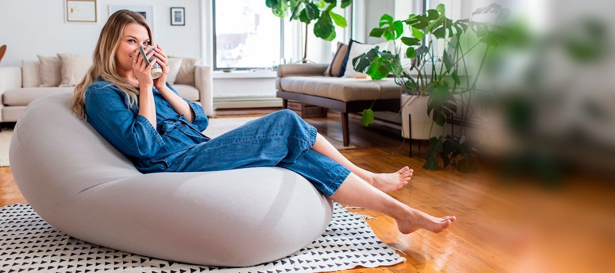 The classic bean bag chair reimagined.
