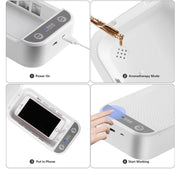 Grey UV-C Phone Sanitizer
