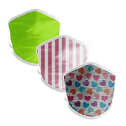BOY MEETS GIRL® Hearts & Stripes Kids Mask 3-Pack