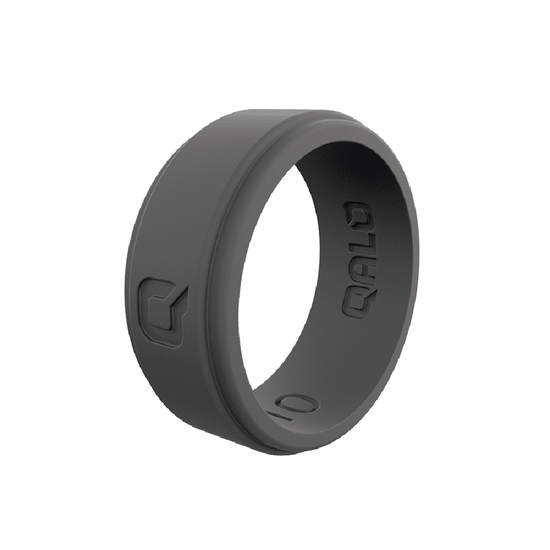 Men's Step Edge Charcoal Silicone Ring