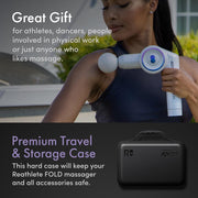 REATHLETE FOLD First Ever Foldable Percussive Massage Therapy Device