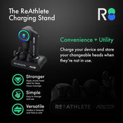 REATHLETE FOLD Black Charging Stand