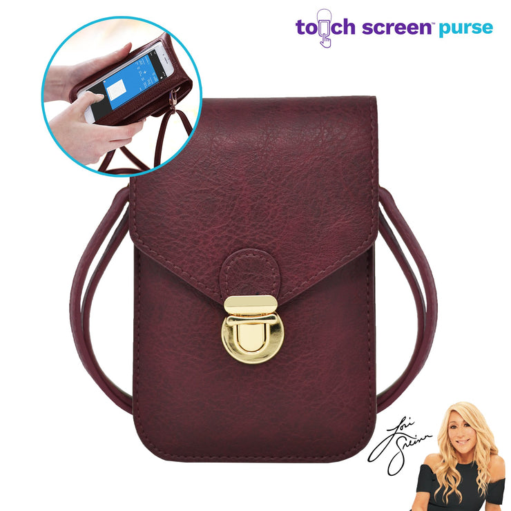 Touch Screen™ Purse - Wine -Use Your Phone While Keeping It Safe And Protected!