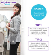 Touch Screen™ Purse - Gray - Use Your Phone While Keeping It Safe And Protected!