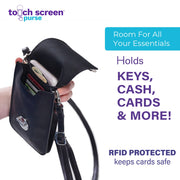 Touch Screen™ Purse Deluxe Wine - Use Your Phone While Keeping It Safe And Protected!