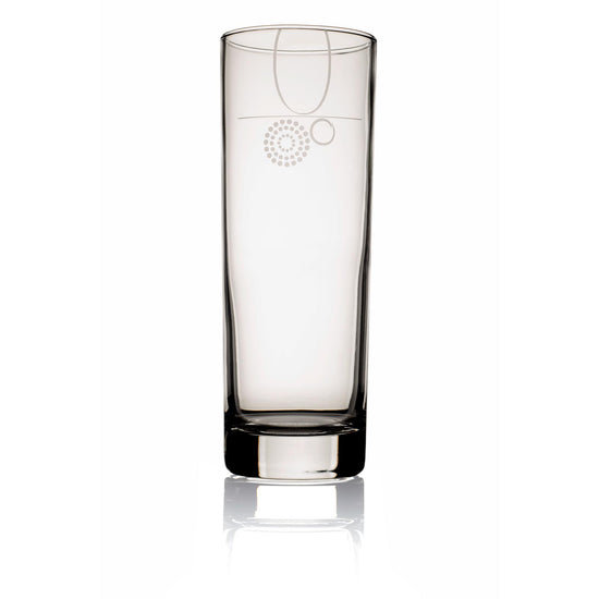 Livliga Aveq Portion Control Beverage Glass with 8 oz Fill Line, Set of 4