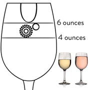 Livliga Aveq Portion Control Wine Glass with 4 oz and 6 oz Fill Lines, Set of 4