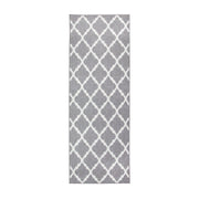 Moroccan Trellis Grey Washable Rug