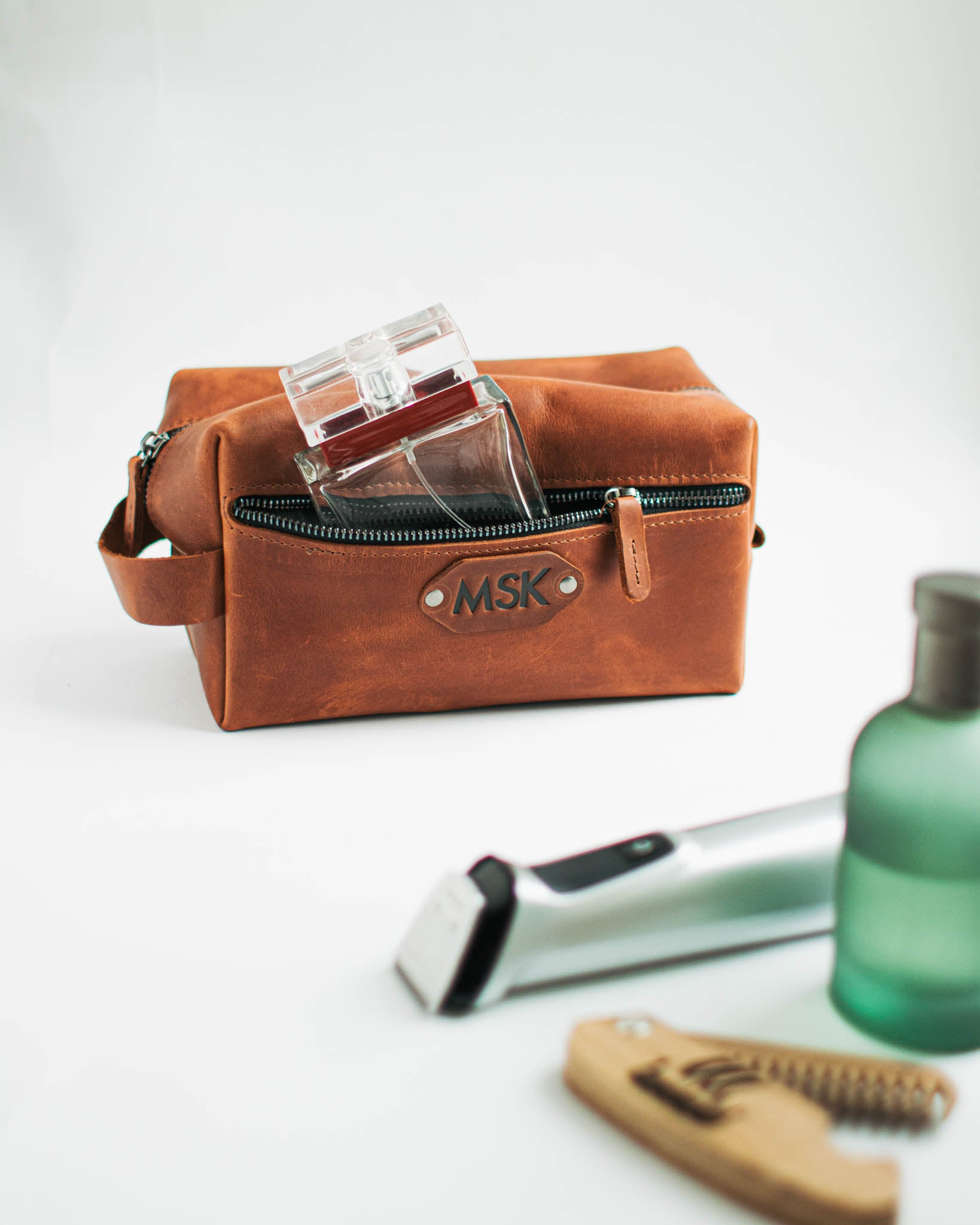 Leather Dopp Kit Embossed