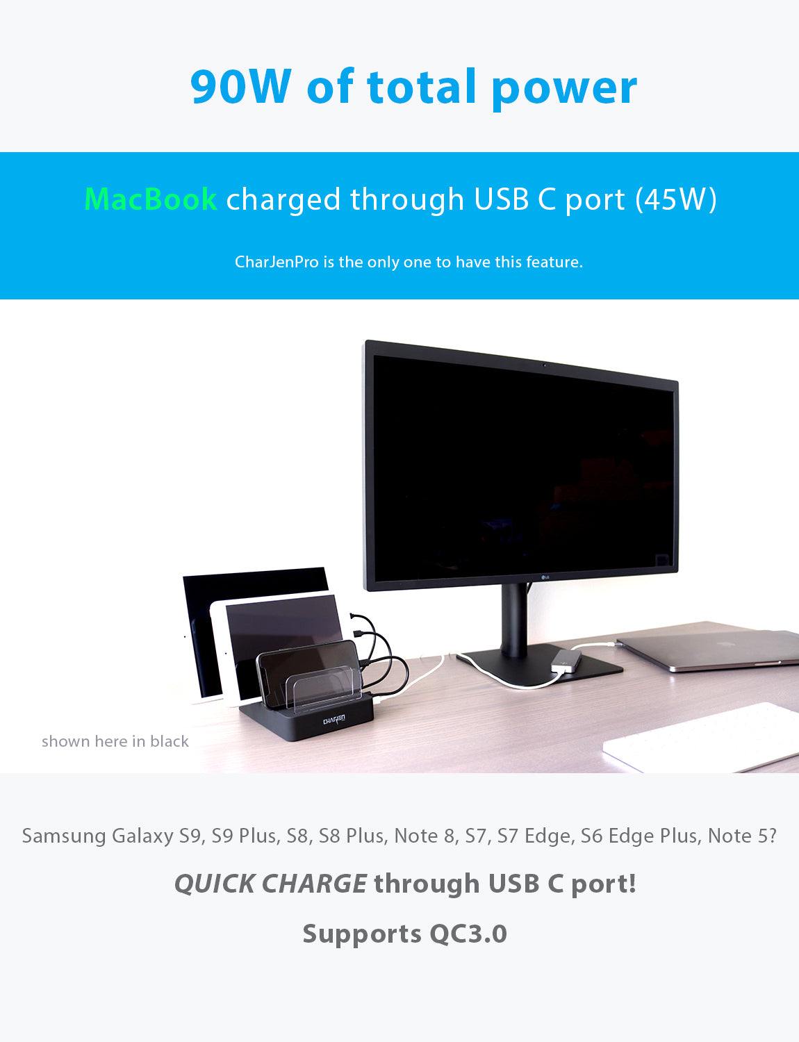 USB and USBC Charging Station