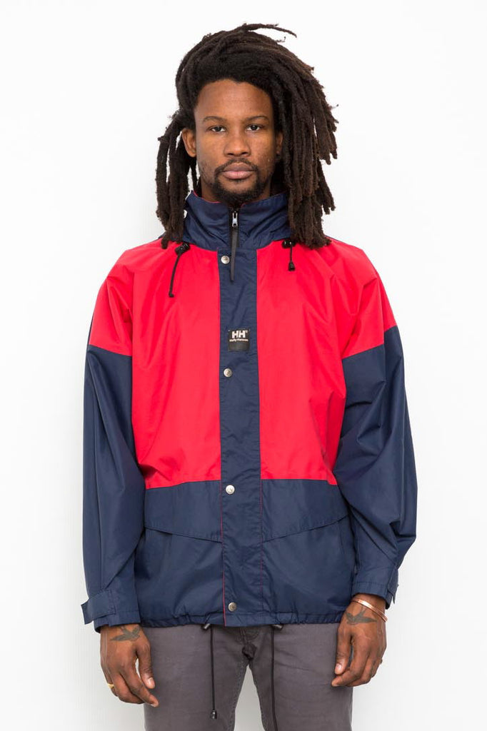 90's Vintage Helly Hansen Red & Blue Rain Mac Jacket