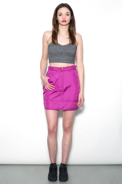 90's Moschino Purple Padded Skirt
