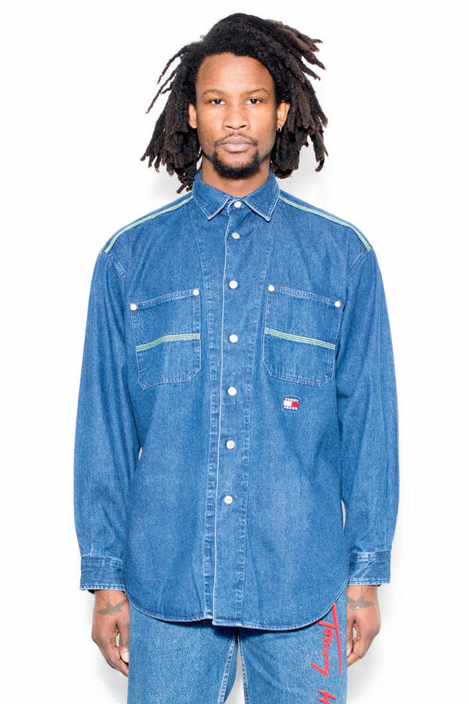 90's Vintage Tommy Hilfiger Denim Shirt