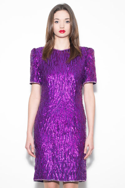 Vintage 1980's Purple Sequin Dress