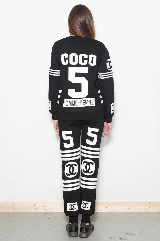 Black Coco No 5 Tracksuit