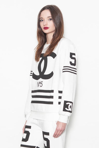 White Coco No 5 Tracksuit