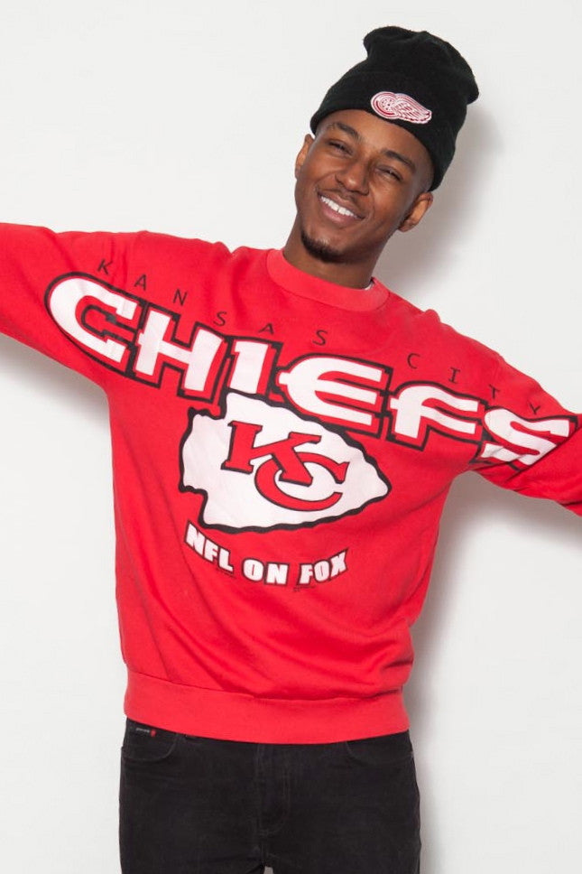 90's NFL Kansas City Chiefs Red American Sports Jumper
