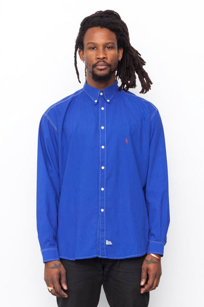 90's Blue Polo Ralph Lauren cotton Shirt