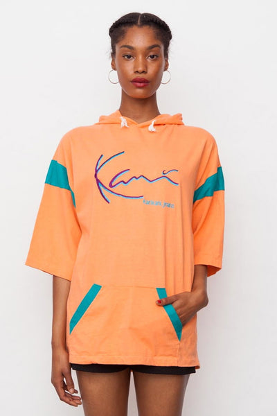 90's Karl Kani Orange T-shirt Hoodie