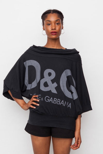 90's Dark Grey Oversized D&G Logo Jumper