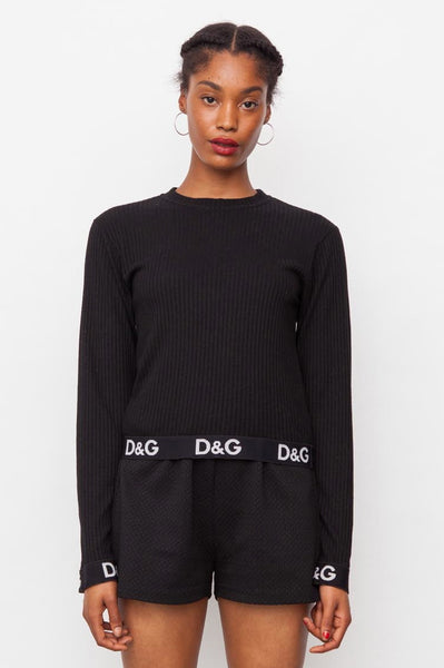 90's Black D&G Logo T-shirt
