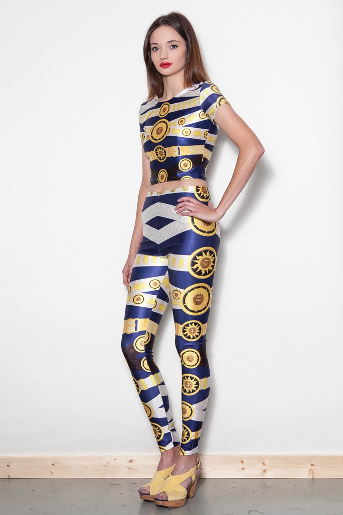 Printed Baroque Matching Two Piece Trousers & Top