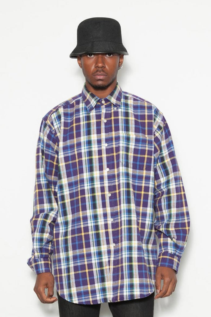 90's Ralph Lauren Check Plaid Oversized Shirt