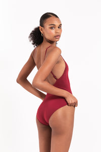 Pansy Square Neck Swimsuit