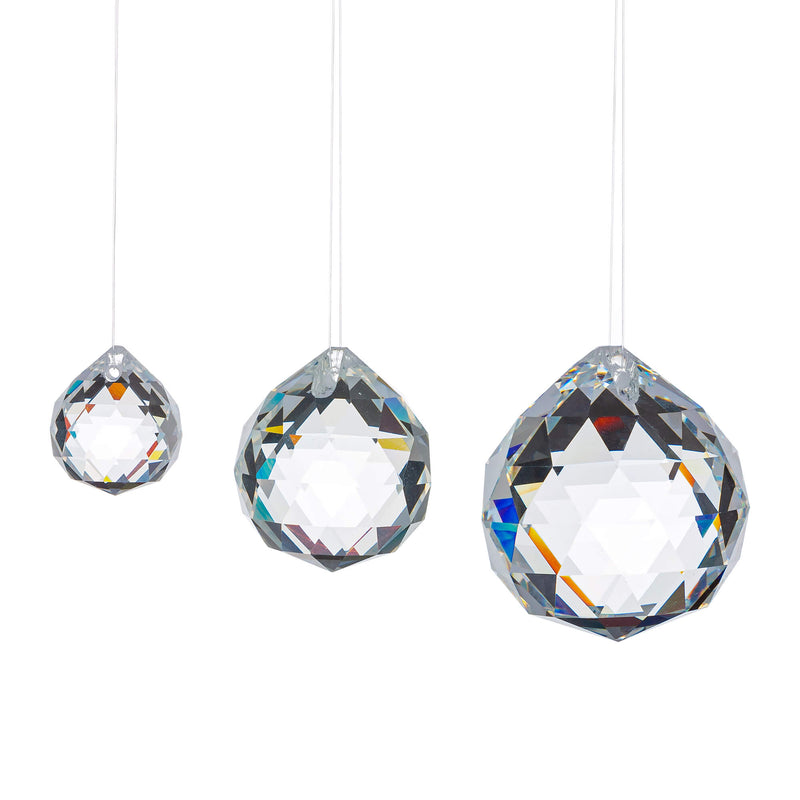 10Pcs/20Pcs Crystal Pendant Prism Faceted Chandelier Ball For Home Wedding Decor