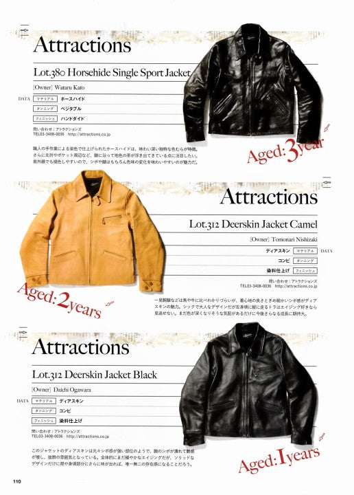 AGING of LEATHER JACKET 別冊Lightning Vol.161 2017年1月 Press Info (12)