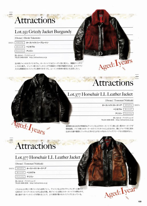AGING of LEATHER JACKET 別冊Lightning Vol.161 2017年1月 Press Info (11)