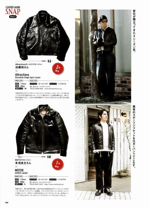 AGING of LEATHER JACKET 別冊Lightning Vol.161 2017年1月 Press Info (9)